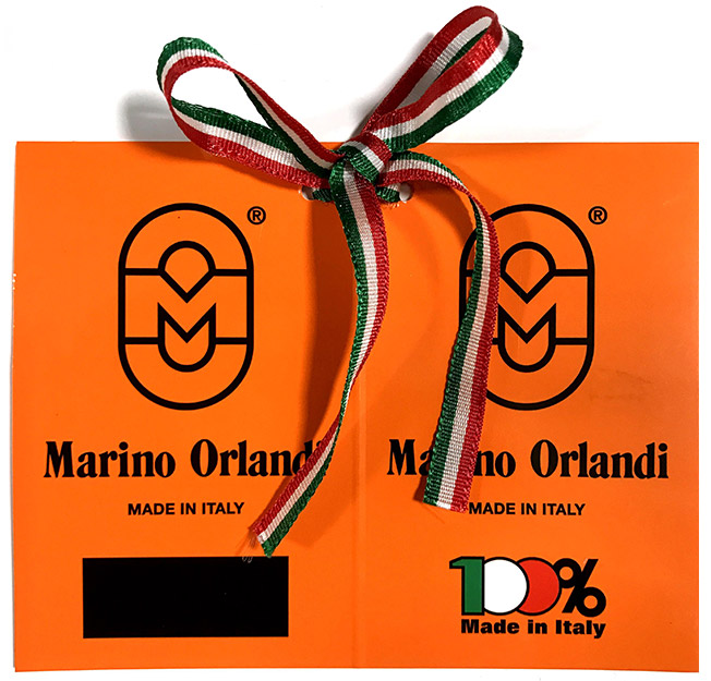 Check The Tag Marino Orlandi 100% Made in Italy